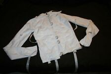 White Canvas / Cloth Straight Jacket, Restraint, Large / XL, NEW