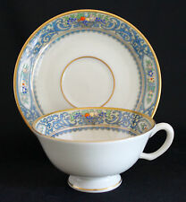 LENOX AUTUMN PRESIDENTIAL COLLECTION Footed CUP & SAUCER SET Latest Gold Mark