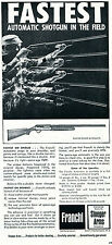 1966 Print Ad of Stoeger Arms Franchi Hunter Grade Automatic Shotgun
