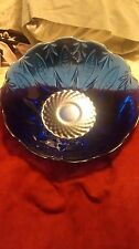 AVON COLBALT BLUE #5 CERIAL BOWLS 3 LARGE FROM FRANCE