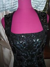 Stunning  All Saints Rattle Sequin Dress Oxblood Size 10 Excellent Condition