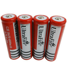 4X 3.7V 18650 Li-ion 6800mAh Rechargeable Battery for UltraFire Flashlight Torch