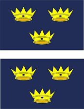 set of 2x sticker vinyl car bumper decal outdoor flag munster Ireland irish