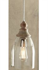 GLASS BELL PENDANT LIGHT WITH WOOD ACCENT By SPLIT P/PENDANT/HANGING LIGHTING