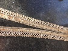 1M  GOLD BRAID METALLIC LACE RIBBON TRIM 15 MM WIDE