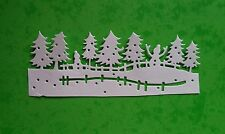 CHRISTMAS TREES WITH SNOWMAN Die Cuts - Crafts, Cards, Christmas - White