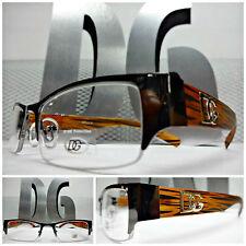 NEW Mens Women SOPHISTICATED CLEAR LENS DG Eyewear EYE GLASSES FRAMES Brown Wood