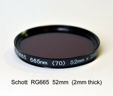 Schott RG665 52mm, 665nm Infrared Longpass Filter, Color IR