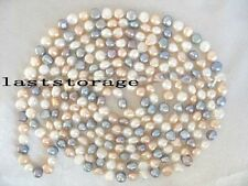 "freshwater pearl multicolor baroque 70"" necklace nature wholesale beads fashion"