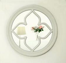 """Pergomas White Shabby Chic Round Flower Window Wall Mirror 24"""" x 24"""" Medium"""