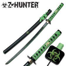 Z-Hunter Green  & Black Zombie Hunter Samurai  Biohazard Sword Swords #ZB-026