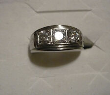 Mens Executive Diamond Ring Size 9  3 diamonds(man made) 1.0tcw MSRP$443.00