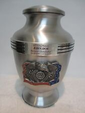 Patriotic Military Adult Metal Cremation Urn- free engraving!
