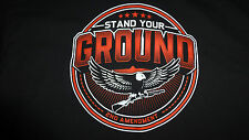 STAND YOUR GROUND 2ND AMENDMENT LOGO T-SHIRT SIZE (XL) BLACK