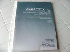 Yamaha CDX-10 Owner's Manual  Operating Instructions Istruzioni   New