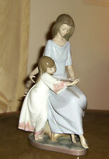 "LLADRO  # 5457  "" BEDTIME STORIES "" RETIRED 1982 PORCELAIN GORGEOUS ! GREAT BUY!"