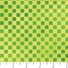 LITTLE KNIGHTS' QUEST GREEN CHECK FABRIC
