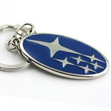 SUBARU KEY RING NEW BLUE GIFT KEYCHAIN NOVELTY STI WRX IMPREZA FORESTER LEGACY
