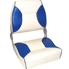 Axis Deluxe Padded Folding Boat Seat - Blue/White