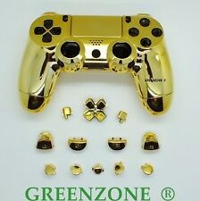 Chrome gold remplacement personnalisé complet ps4 controller hydro dipped shell mod kit