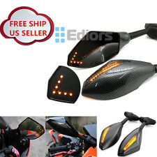 Carbon Integrated Turn Signal Mirrors for Yamaha YZF R1 R6 02 03 04 05 06 07 08