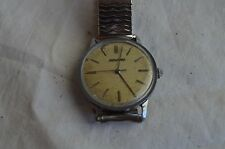 VINTAGE MOVADO MECHANICAL STAINLESS STEEL MENS WRIST WATCH 1950'S WORKS SWISS