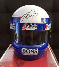 Alain Prost SIGNED 1:2 Half Scale Helmet, 1985 McLaren F1 World Champion, COA