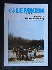 0101) LEMKEN 150 Jahre Bodenbearbeitung - Prospekt Brochure 1994