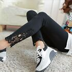 2015 NEW Women Sexy Lace Stretchy Skinny Cotton High Waist Leggings Pants Hose