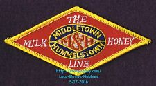 LMH Patch MIDDLETOWN & HUMMELSTOWN Railway M&H The MILK HONEY LINE Railroad 4.2""