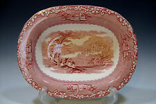 Jenny Lind 1795 Royal Staffordshire Pottery England Vegetable Bowl (Red)