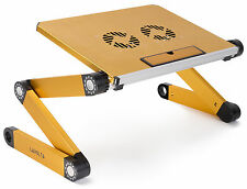 Lavolta Folding Laptop Table Desk Tray Stand Cooling Pad Cooler Fan Adjustable