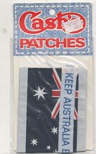 KEEP AUSTRALIA BEAUTIFUL PATCH with AUSTRALIAN FLAG Brand New In Packet 11 x 5cm
