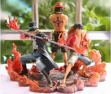 ONE PIECE 3 FIGURAS LUFFY ACE Y SABO 14-17 cms MANGA COMIC ANIME PESADILLA