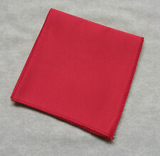PILLAR BOX RED HANKIE HANDKERCHIEF MENS TOP POCKET SQUARE + GOOD QUALITY +