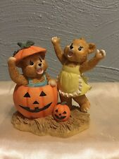 "BEAR SEASONS ""HI PUMPKIN"" FIGURINE SPEC EDITIONS SECOND NATURE DESIGN"