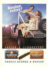 Publicité Advertising 1987  PAPIER A CIGARETTES SAMSON tabacs blonds à rouler