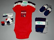 Baby boy clothes, 0-3 months, Child of Mine 3 bodysuits,2pants,4socks,1shoe