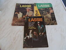3 Old Issues of The Gold Key Comic -LASSIE