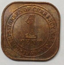 Commissioners of Currency Malaya 1 cent 1943 coin