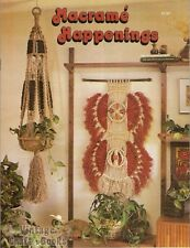 Macrame Happenings Vintage Pattern Instruction Book Plant Hangers Clogs Rack NEW