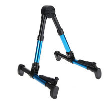 Guitar Stand Folding A-Frame for Acoustic Electric Guitars Ukulele Violin Blue