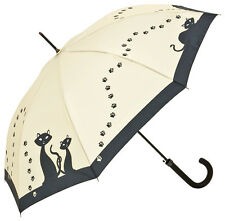 Von Lilienfeld Automatic Walking Umbrella - Black Cats