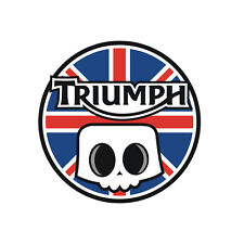 Sticker plastifié SKULL TRIUMPH - Speed Street Triple - Rocket - 6cm x 6cm