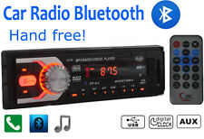 Car Radio Bluetooth Head Unit 1 DIN In Dash 12V SD/USB AUX Stereo iPhone Android