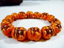 Happy Lucky Buddha Head Money Chinese Buddhist Monk Mala Bracelet Prayer Bead