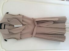 Stunning Karen Millen Pleated Trench Dress Coat Size 6 and 10