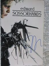 TIM BURTON & DANNY ELFMAN Signed 11x17 PHOTO DC/COA EDWARD SCISSORHANDS (RARE)
