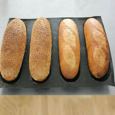 "Non stick Silicone French Bread Mould 4 Loaf Baguette Tray 9.8""x 15"" Baking Pan"