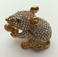 BEJEWELED RAT MOUSE STATUE TRINKET JEWELRY BOX